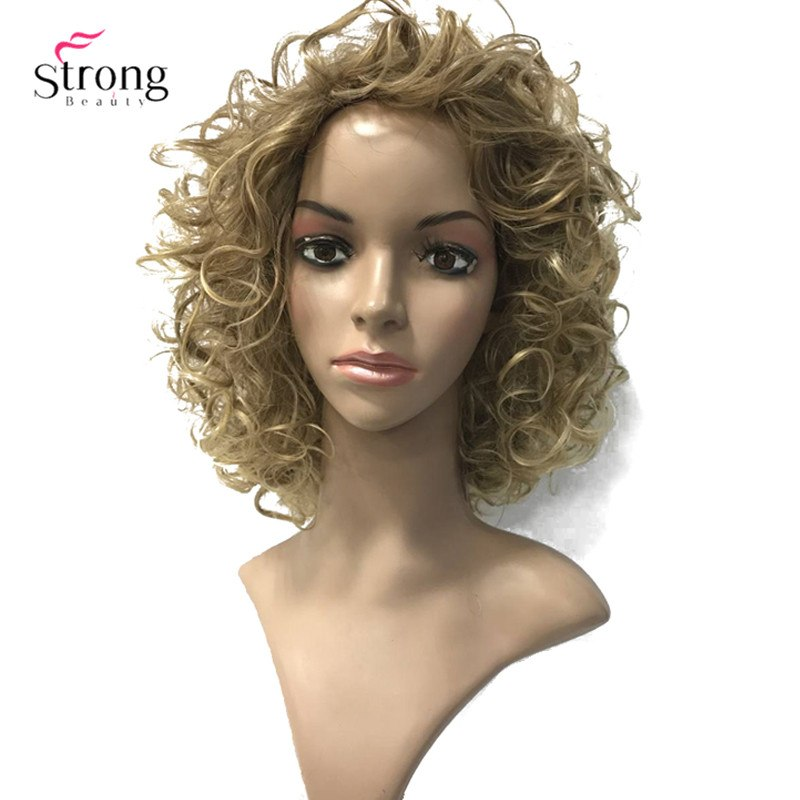 [해외]/StrongBeauty Women`s Wigs Short Curly Hair Synthetic Full Wig 3 Colors for Women