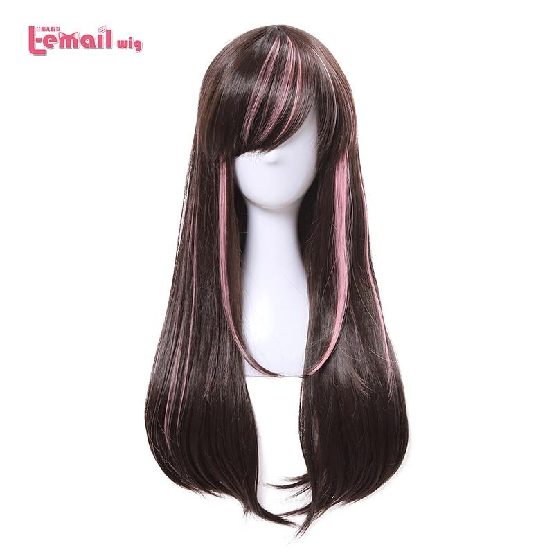 [해외]/L-email wig New Arrival Virtual Youtuber Cospaly Wigs AI Channel Mixed color Synthetic Hair Peruca Women Cosplay Wig