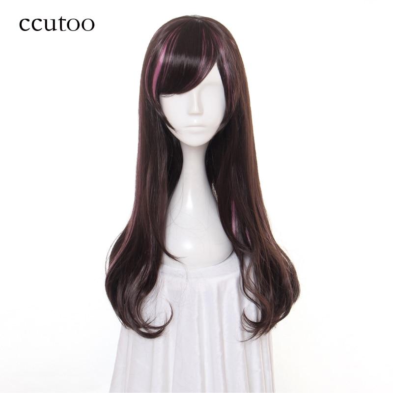 [해외]/ccutoo 60cm X Long Synthetic Hair YouTube Female Anchor A.I.Channel Kizuna AI Cosplay Wig