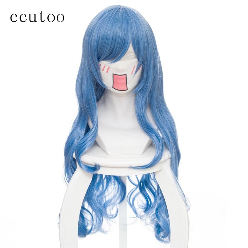 [해외]/ccutoo 80cm Blue Mix Wavy Long Synthetic Wig Himouto Umaru-chan Cosplay Tachibana Sylphynford Cosplay Full Wigs Heat Resistance