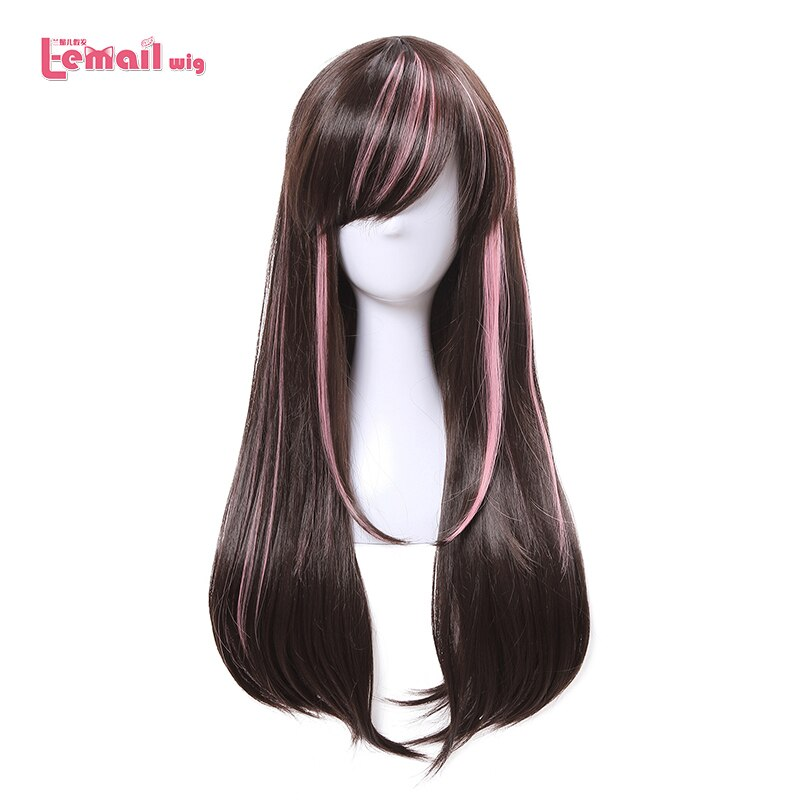 [해외]/L-email wig New Arrival Virtual Youtuber Cospaly Wigs AI Channel Mixed color Synthetic Hair Peruca Women Cosplay Wig