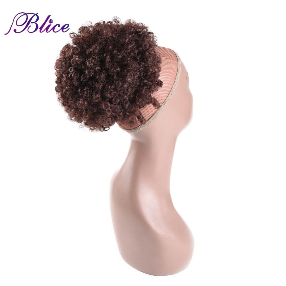 Blice 9 인치 합성 곱슬 머리 포니 테일 아프리카 계 미국인 짧은 아프리카 합성 drawstring 퍼프 포니 테일 헤어 익스텐션/Blice 9 인치 합성 곱슬 머리 포니 테일 아프리카 계 미국인 짧은 아프리카 합성 drawstring 퍼