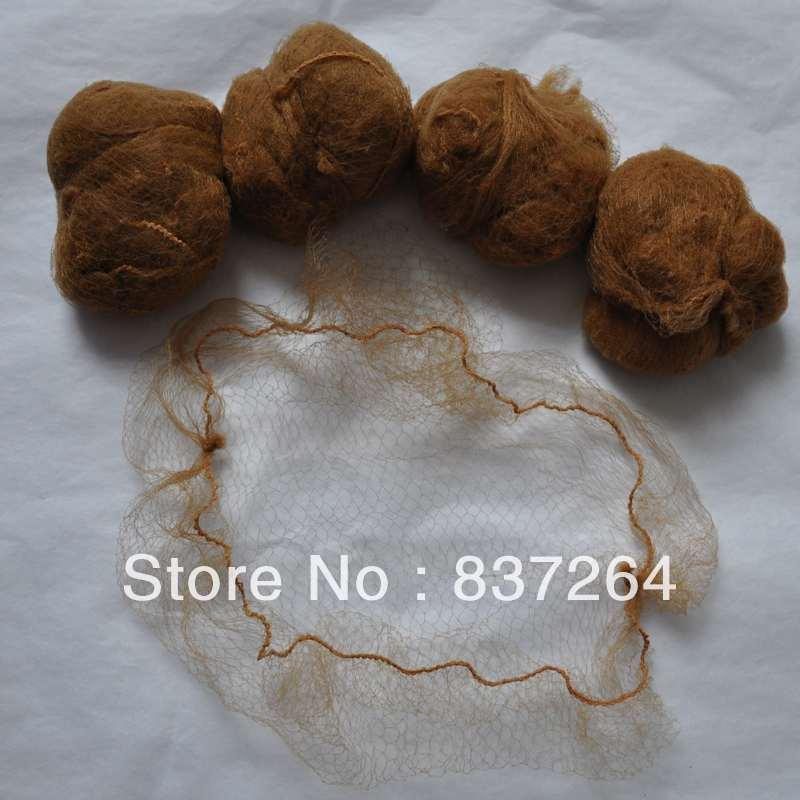 [해외]/whole sale 5mm disposible nylon hairnets invisible disposable hair net 20inch light brown color beard cover