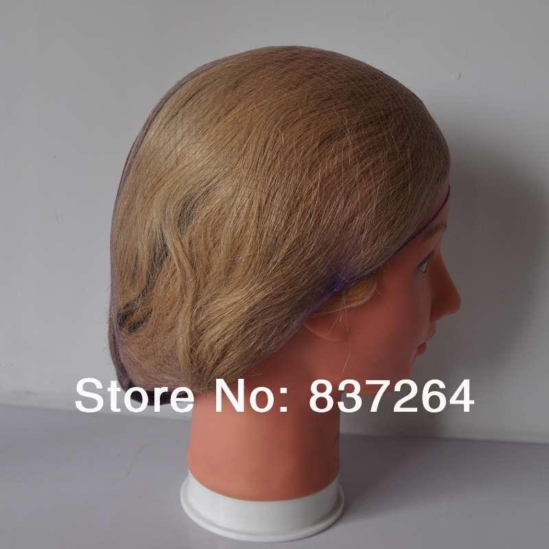 [해외]/invisible hair nets disposable hairnet 20inch brown color dance hair net 144pcs/bag 5mm nylon net in stock elastic edge
