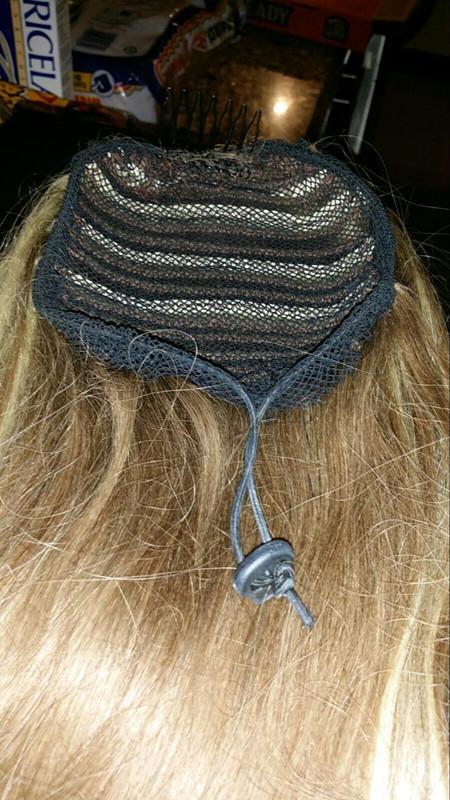 [해외]/ 5pc/lot Wig Caps For Making Ponytail Black Color  Hair Net for Make Ponytail beautiful woman hair Tool