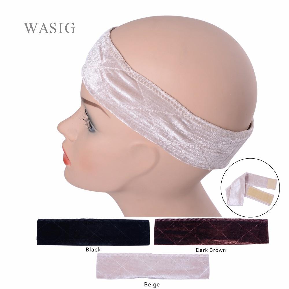 [해외]/ Flexible Velvet Wig Grip Scarf Comfort Head Band Adjustable Fastern Wig Beige , Dark Brown , Black