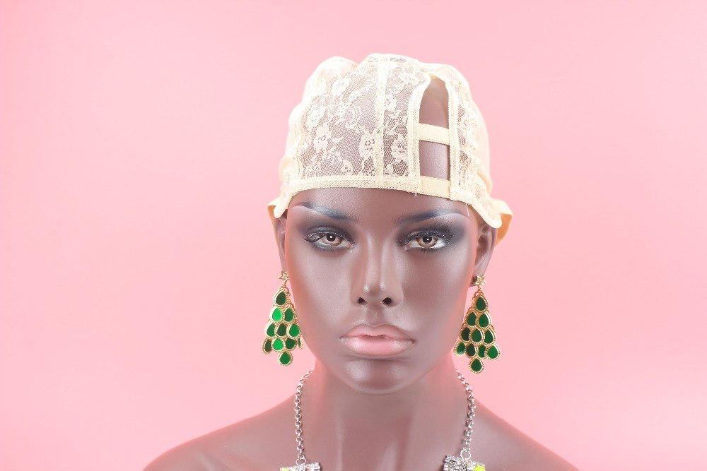 [해외]Stock XS/S/M/L/XL/XXL Beige color U Part Wig Caps For Making Wigs 1pcs Top Quality Stretch Adjustable Straps Back /Stock XS/S/M/L/XL/XXL Beige col
