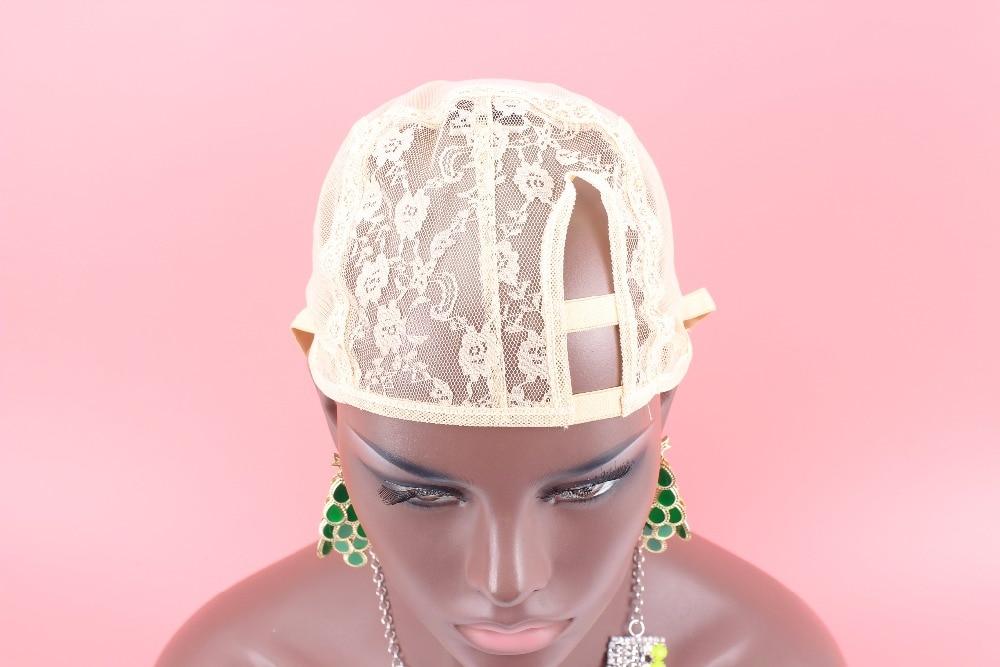 [해외]/1PC XS XL XXL Left U part wig cap beige color wig cap for making wigsadjustable strap on the back weaving cap size
