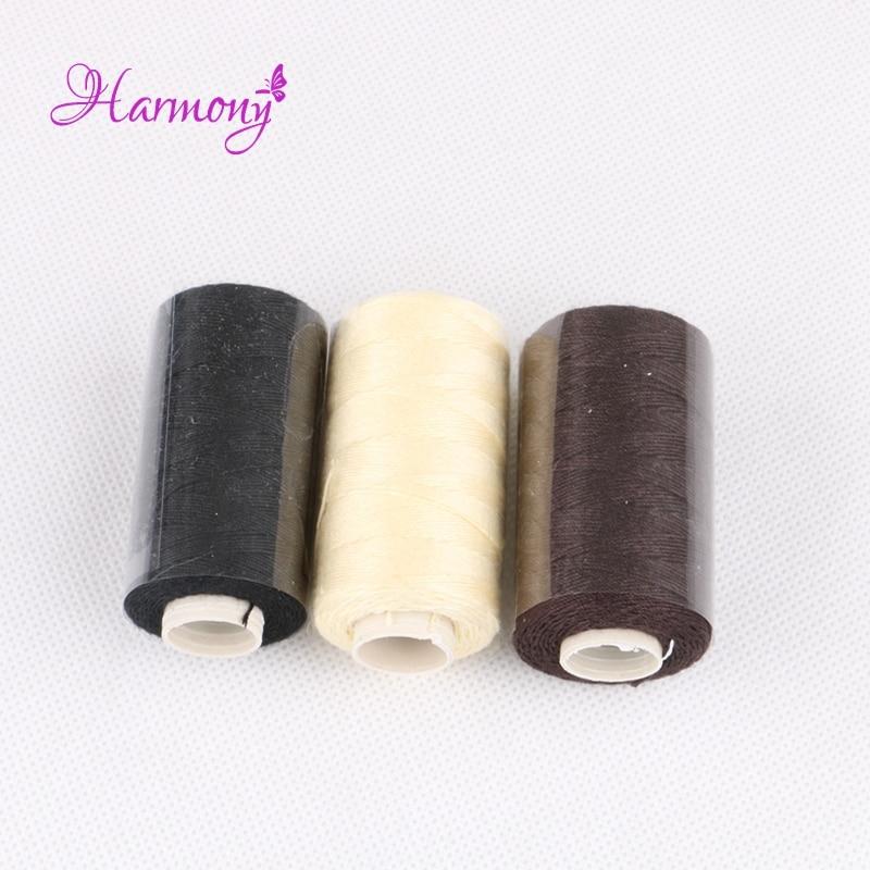 [해외]/12pcs/box Black color cotton thread for hair extension 12yards 110m machine cotton sewing thread European quality