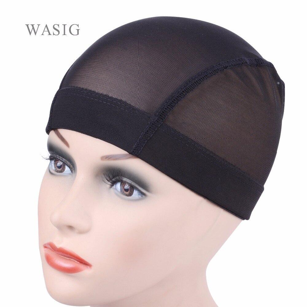 [해외]2 개/블랙 돔 Cornrow 발 모자를 쉽게 바느질을 머리에 신축성 직물 Cap 탄력 있는 나일론 통기성 메쉬 헤어 Net/2 Pcs/lot black Dome Cornrow Wig Caps Easier Sew In Hair Stretchable Weaving