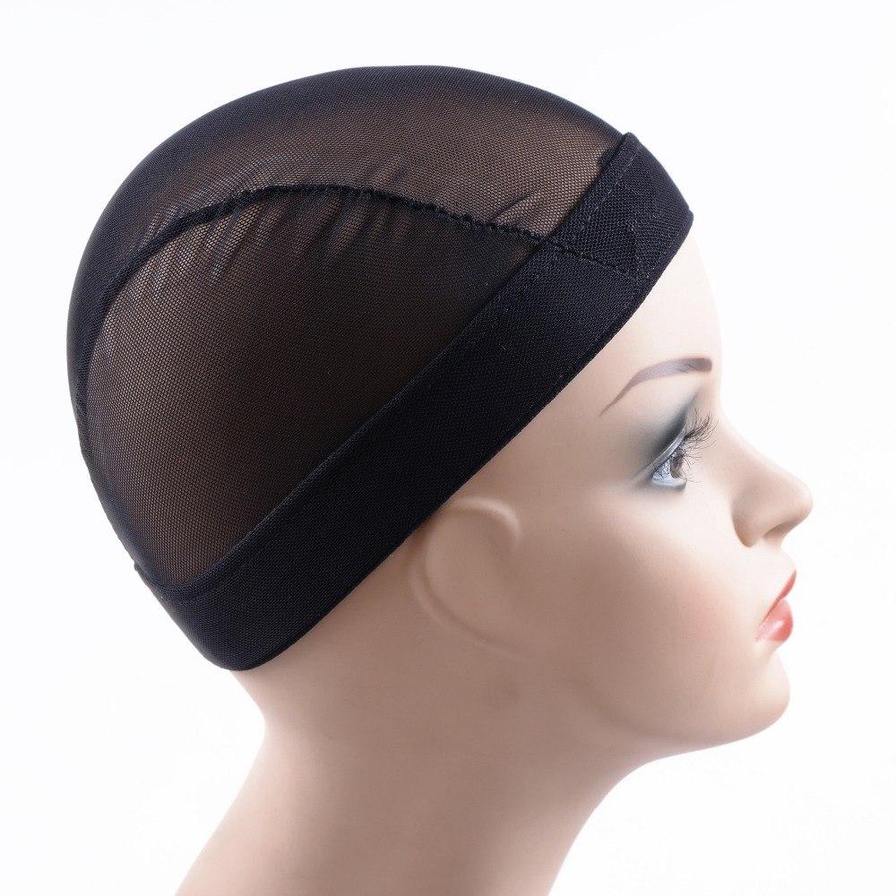 [해외]2 Pcs / lot 검은 돔 Cornrow가 발 모자 머리에 쉽게 봉합 스트레칭 직조 모자 탄성 나일론 통기성 메쉬 그물/2 Pcs/lot black Dome Cornrow Wig Caps Easier Sew In Hair Stretchable Weaving