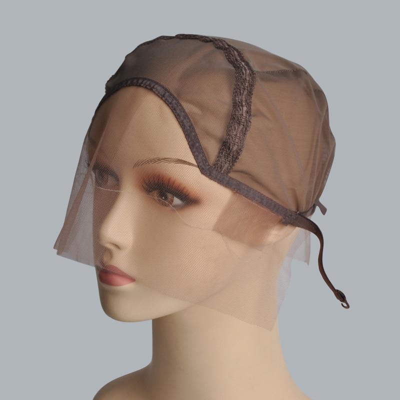[해외]Black/Dark Brown/Brown/Light Brown/Beige Glueless Wig Caps For Making Wigs Weaving CapsAdjustable Strap Lace Front Wig Cap/Black/Dark Brown/Brown/