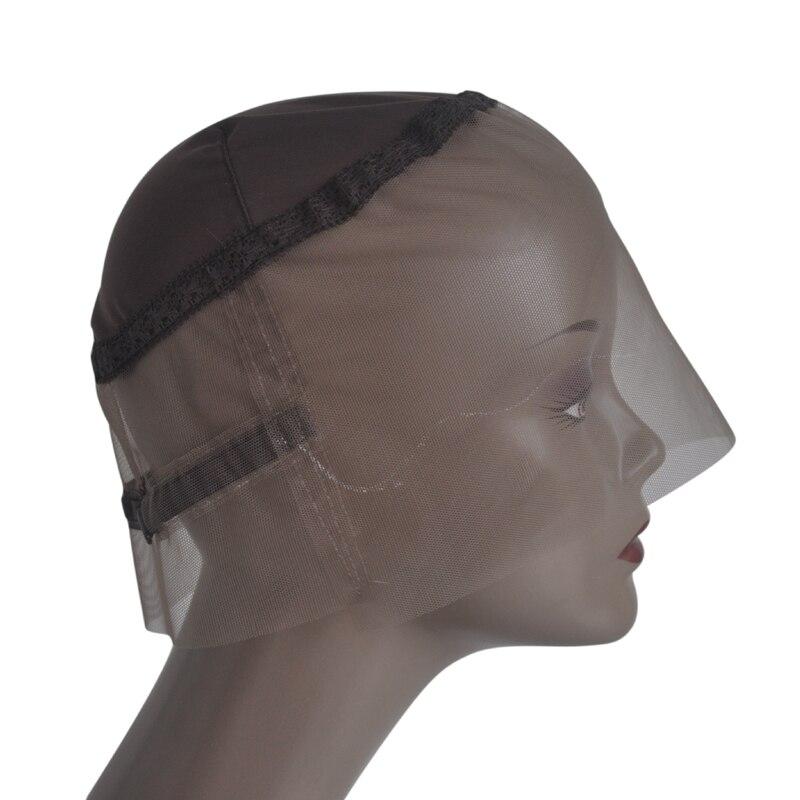 [해외]Brown 360 Full Lace Wig Cap Hand Made Swiss LaceAdjustable Straps Lace Wigs For Making 360 Wig/Brown 360 Full Lace Wig Cap Hand Made Swiss LaceAdj