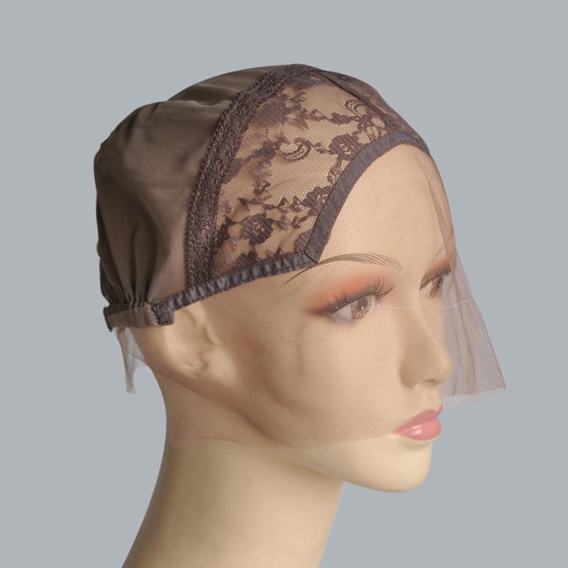 [해외]Black/Dark Brown/Brown/Light Brown/Beige Lace Front Wig Caps For Making WigsAdjustable Strap Weaving Cap Hairnets/Black/Dark Brown/Brown/Light Bro