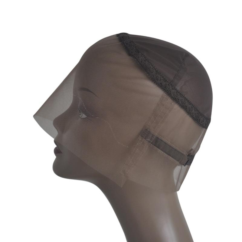 [해외]/Brown 360 Full Lace Wig Caps Hand Made Swiss LaceAdjustable Straps Lace Wigs For Making 360 Wig