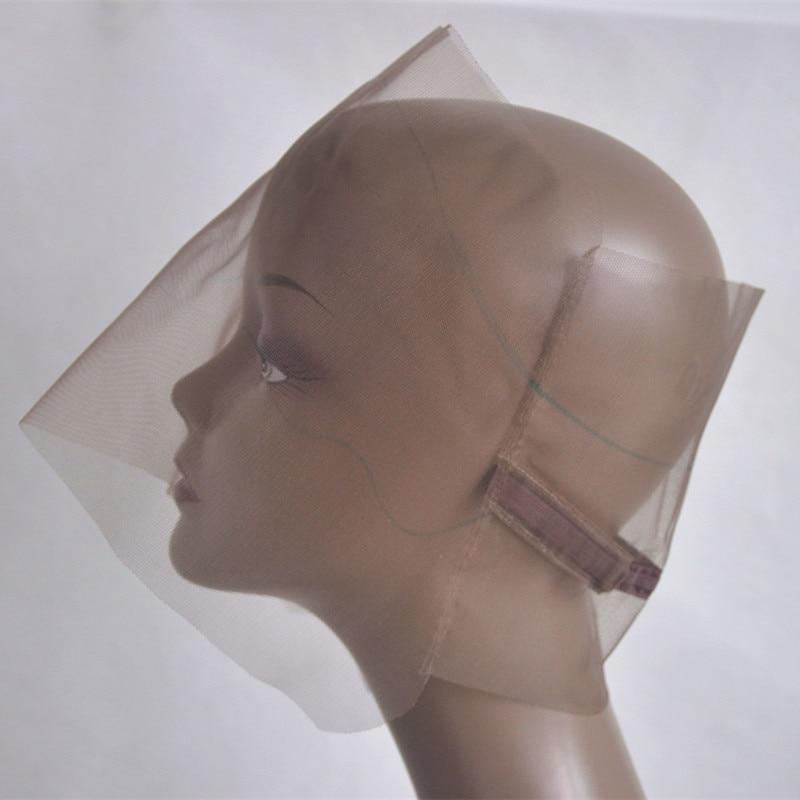 [해외]/Brown 360 Wig Cap Base For Making Wig Swiss Lace Wig Cap Base 360 Closure CapAdjustable Strap