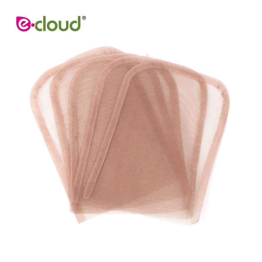 [해외]5pcs/bag 4X4inch Swiss Lace Closure Frontal Base Brown Hand-woven Hair Net Piece For Making Lace Wigs Cap Closure Wig Accessory/5pcs/bag 4X4inch S