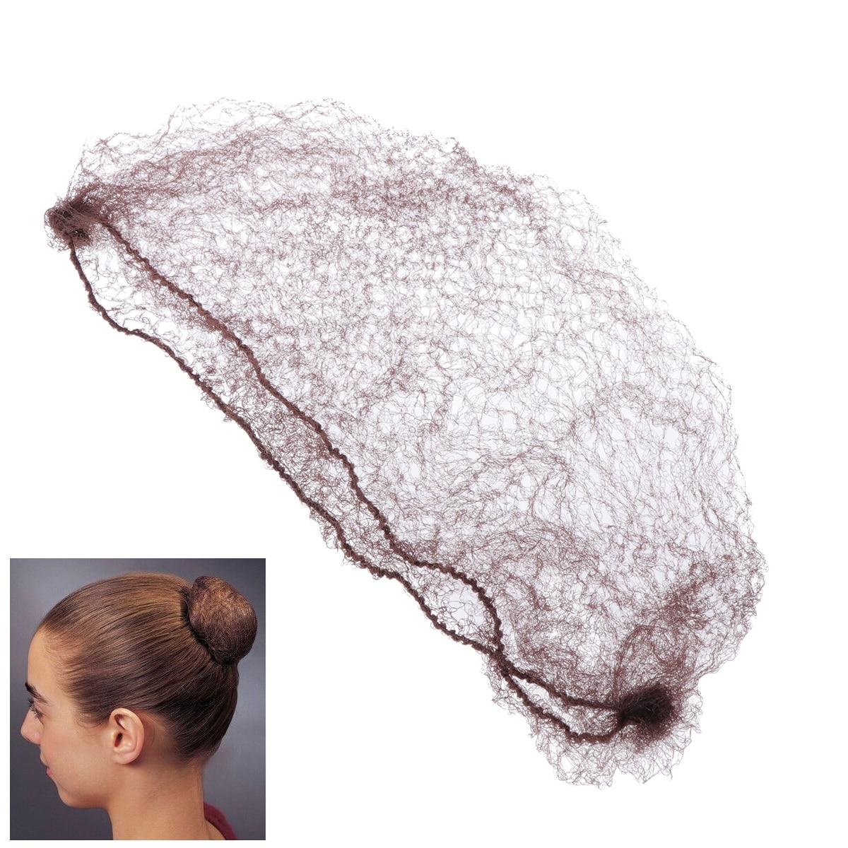 [해외]50 개 머리는 그물이 눈에 보이지 않는 탄력 있는 가장자리쉬 헤어 발레빵 머리는 그물 메쉬 스케이트 춤 Snoods 머리 Net 빵 커버/50pcs Hair Nets Invisible Elastic Edge Mesh Hairnet Ballet Bun Hair
