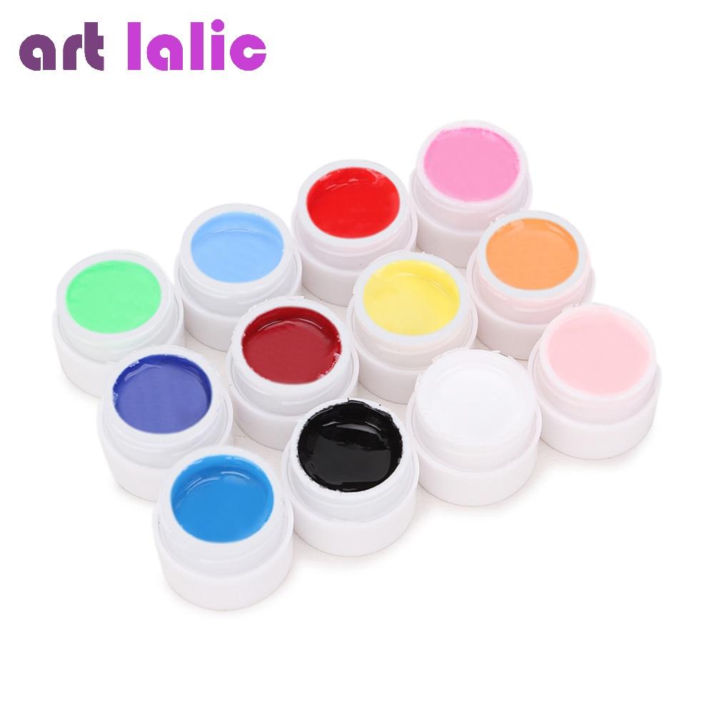 [해외]Artlalic 12 색 순수 UV 젤 연장 매니큐어 빌더 네일 아트 팁 폴란드어 디자인 여성 뷰티 DIY 못 풀/Artlalic 12 Colors  Pure UV Gel Extension Manicure Builder Nail Art Tips Polish De