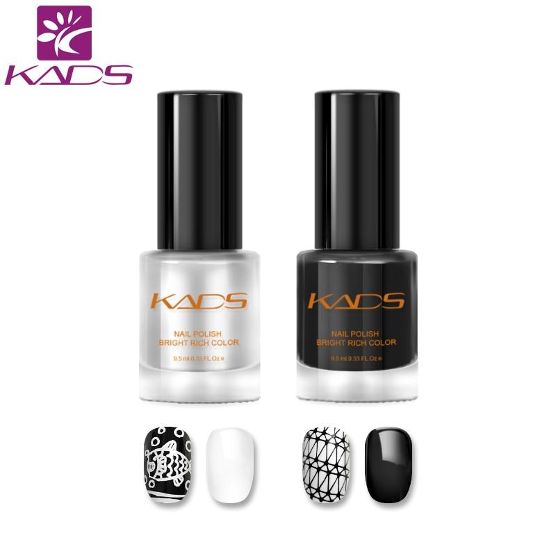 [해외]/KADS New Arrival 2pcs Two in one Nail Stamping Polish set nail polish for stamping polish nail art varnish nail