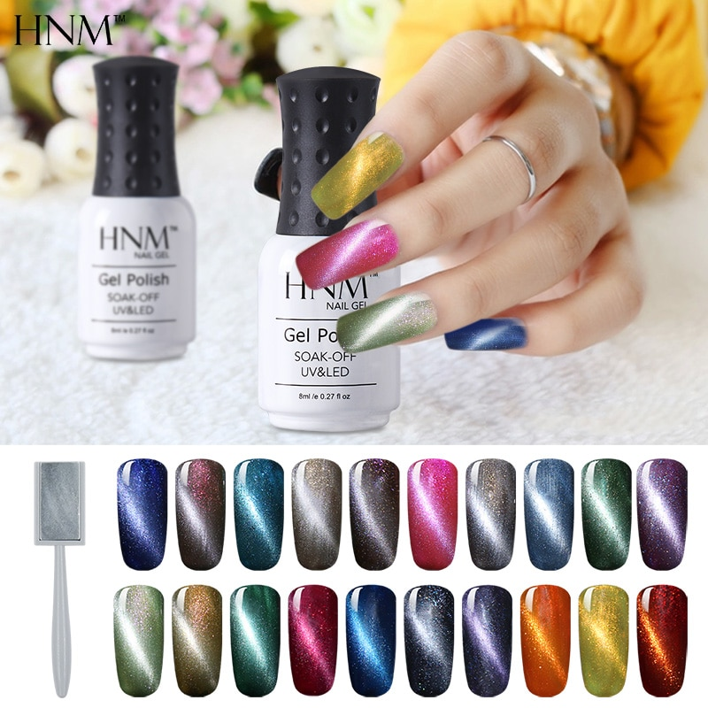 [해외]/HNM Nail Polish Cat`s Eye Stamping Paint Nail Polish Magnetic UV Nail Gelpolish Paint Gellak Hybrid Varnish Nail Art Enamel Ink