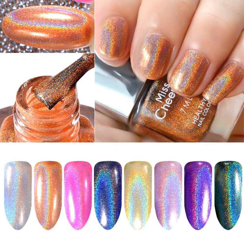 [해외]/Misscheering Rainbow Shinning Chameleon Mirror Holographic Nail Glitter Powder Nail Polish UVGel Chrome Pigment Decoration TSLM1