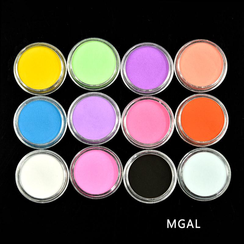 [해외]12pc/Set Acrylic Powder Dust Decoration False Tips Nail Art Manicure Acrylic Powder For Nail Art UV Builder Set Manicure Tools/12pc/Set Acrylic Po