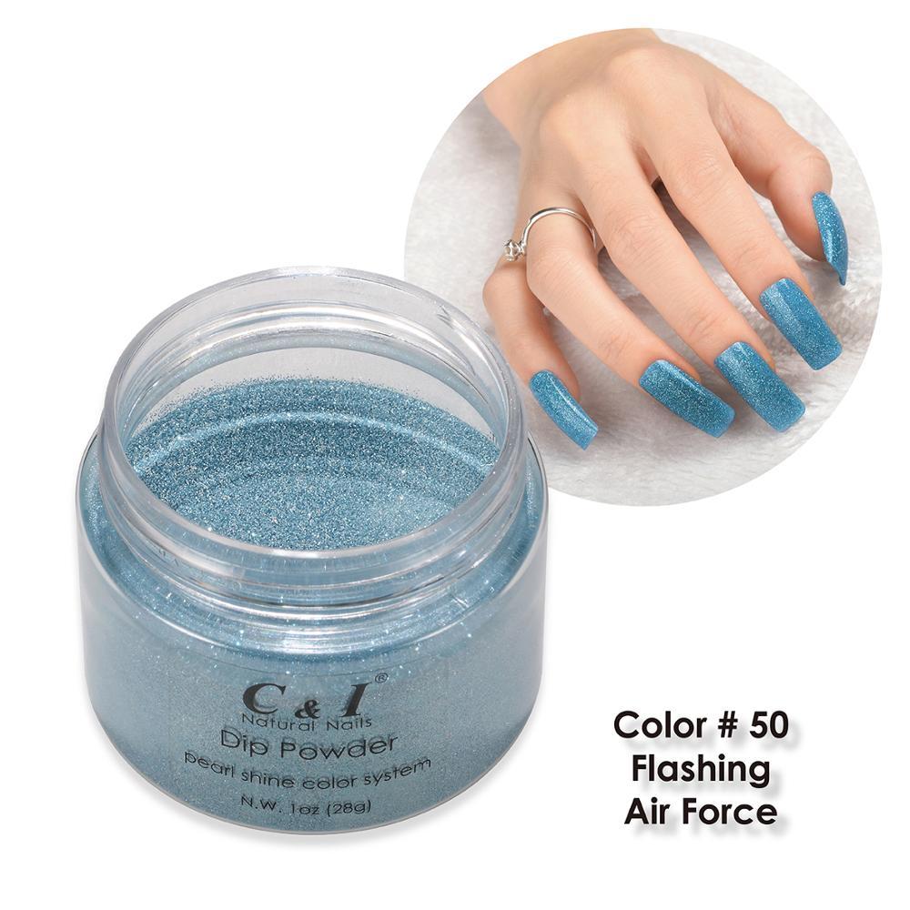 [해외]28g Dipping Powder -Color NO.50 Flashing Air Force -Pearl Shine Color System /28g Dipping Powder -Color NO.50 Flashing Air Force -Pearl Shine Colo