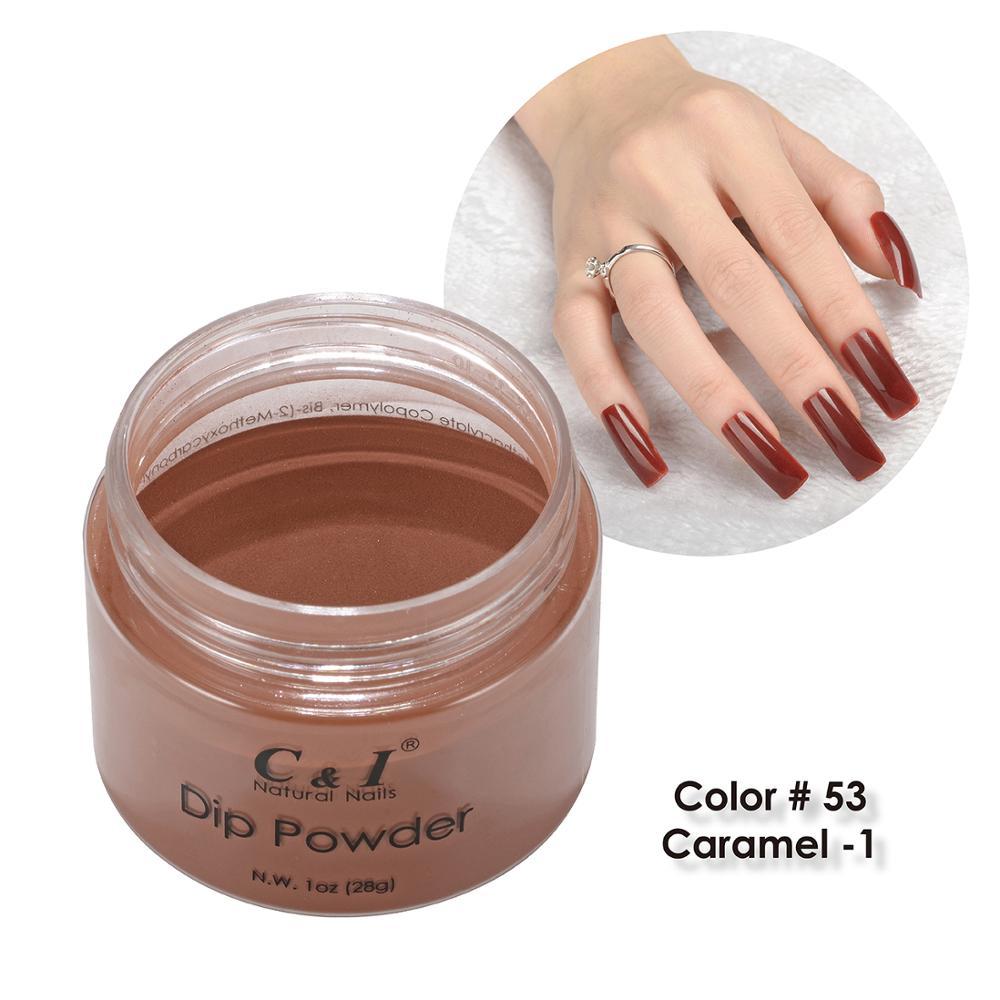 [해외]/28g Dipping Powder Caramel Color Series 4 Colors for Choose