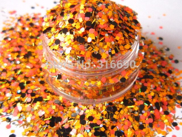 [해외]Matte Neon Mixed Colors Solvent Resistant Glitter Hexagon Strip Spangles Shapes for Nail Polish&Gel Acrylic Nail G386/Matte Neon Mixed Colors