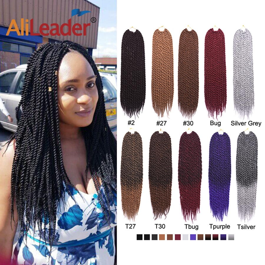 AliLeader 30 Strands Braids Twist 크로 셰 뜨개질 헤어 익스텐션 1-10 팩 Ombre Synthetic Crochet 세네갈 트위스트 헤어 18/AliLeader 30 Strands Braids Twist 크로 셰